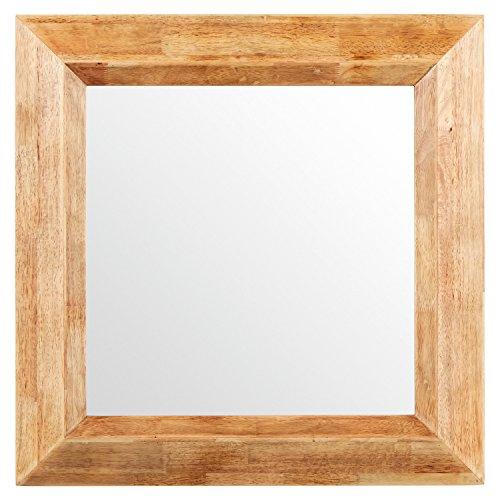 Stone & Beam Square Rustic Wood Frame Mirror, 25.75″H, Natural