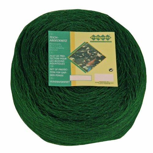 Profigarden 257145 Teichabdecknetz 2 x 3 m,  Maschen 17 x 17 mm, inklusive 10 Netzankern, dunkelgrün