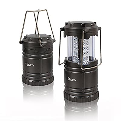 Camping Lantern, iStarty 30 LED Ultra Bright Portable Camping LED Lantern Flashlights for Home & Outdoor and Emergency Use: Suitable for Hiking, Camping, Emergencies, Hurricanes, Outages (Gray, Collapsible, Water-resistant)