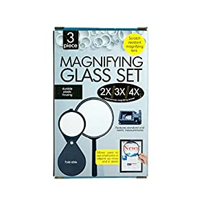 123-Wholesale - Set of 12 Scratch Resistant Magnifying Glass Set - School & Office Supplies Magnifying Glasses