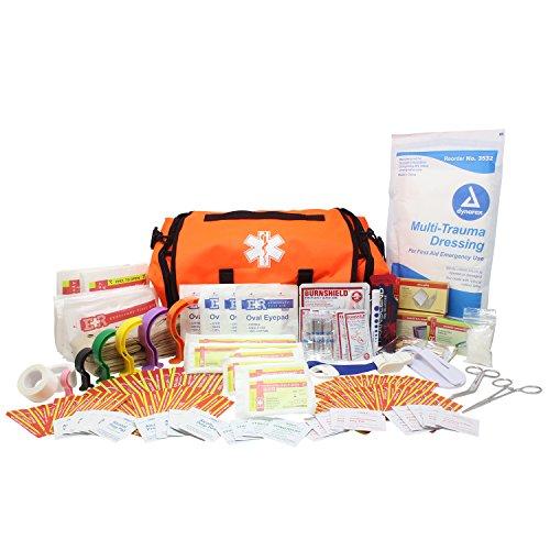Dixie Ems Fully Stocked First Responder On Call Kit, Orange ()