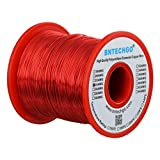 BNTECHGO 24 AWG Magnet Wire - Enameled Copper Wire - Enameled Magnet Winding Wire - 16 oz - 0.0221'' Diameter 1 Spool Coil Red Temperature Rating 155℃ Widely Used for Transformers Inductors