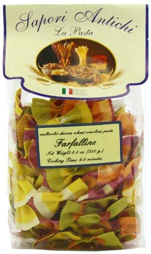 Sapori Antichi Pasta, Multicolor Farfaline Bowtie, 8-Ounce (Cybercucina Pasta)