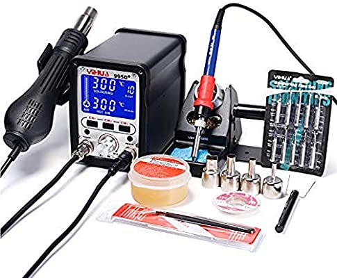 995D Hot Air Gun Desoldering Soldering Iron Station 2-in-1 Rework Station 720W