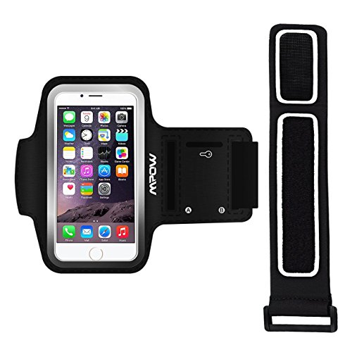Unisex Sweatproof Adjustable Armband Case with Reflective Strip & Keyholder for iPhone, Samsung, HTC, Motorola, Sony, Blackberry, Ericsson, Google, Huawei, Kyocera, Lenovo, Blu, Nokia & LG (Case Phone Ericsson Sony)