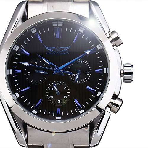 2017 New Luxury Brand JARAGAR Watch Automatic Mechanical Self-Wind Wristwatches 24 Hour Week Date Fashion Men Watches