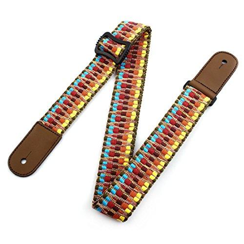 uxcell Cotton Blends Braided Adjustable Band Portable Ukulele Belt Strap (Cotton Blend Belt)