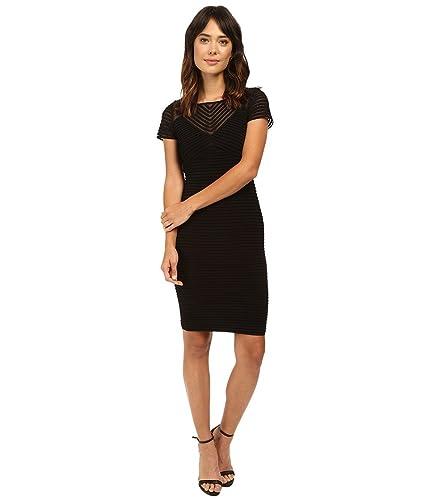 Calvin Klein Womens Short Sleeve Pin Tuck Dress CD6A1Q8C