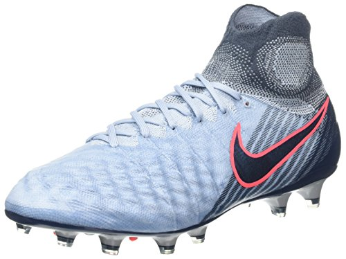 Nike Magista Obra Ii Fg, Chaussures de Football Homme Bleu (Light Armory Blue/Armory Navy-Armory Blue-Hot Punch)