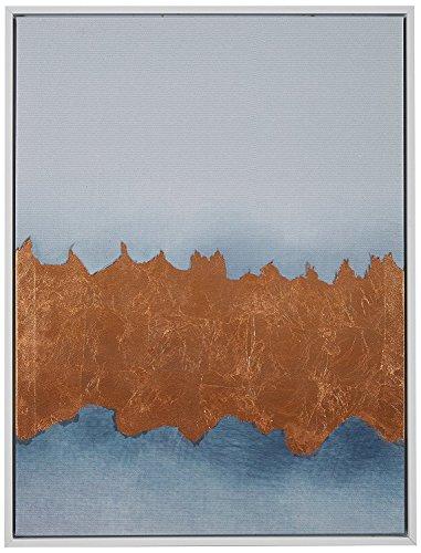- Copper Metallic Foil Canvas Print Wall in White Frame, 31.75