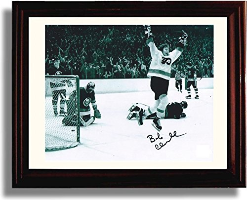 Framed Bobby Clarke The Goal 1975 Stanley Cup Autograph Replica Print - Philadelphia Flyers