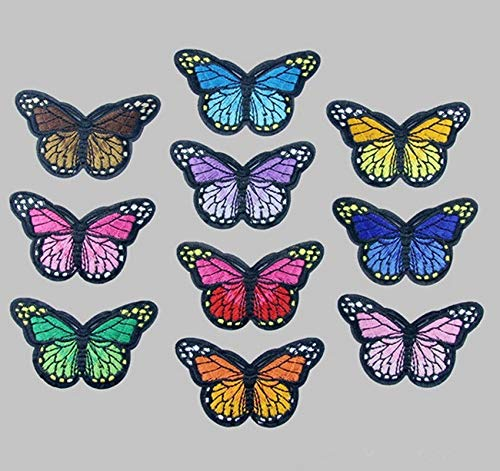 Patches - Sell 10x Embroidery Cute Butterfly Iron On Patch Badge Embroidered Applique Sewing S - Fabric Sew Force Book Pirate In Pimple Rush Hat Doctor -