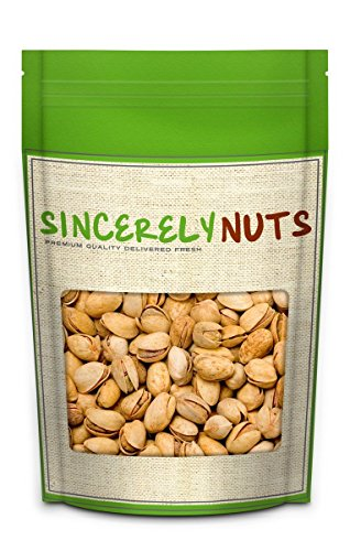 Sincerely Nuts Barbeque Chipotle Flavored Pistachios- Two Lb. Bag- Shelled Pistachio Nuts- Supremely Tasty and Fresh- 100% Kosher Certified