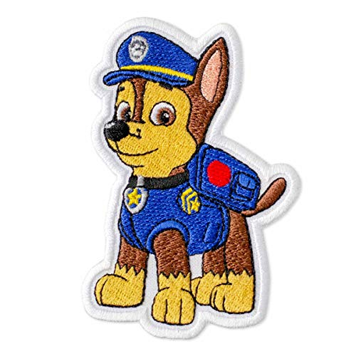"""PAW Patrol Chase Embroidered Patch Iron On (2.7"""" x 3.9"""")"""