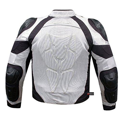PRO MESH MOTORCYCLE JACKET RAIN WATERPROOF WHITE M by Jackets 4 Bikes (Image #3)