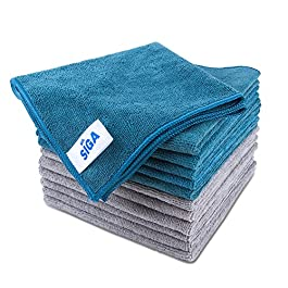 MR.SIGA Microfiber Cleaning Cloth, Pack of 12, Size: 15.7″ x 15.7″