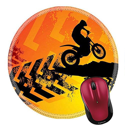 Liili Round Mouse Pad Natural Rubber Mousepad Motocross background IMAGE ID 14666377