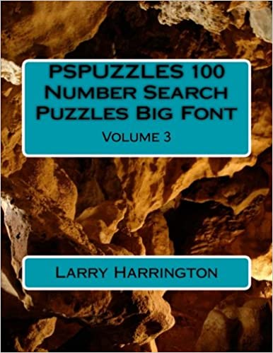 PSPUZZLES 100 Number Search Puzzles Big Font Volume 3: Larry