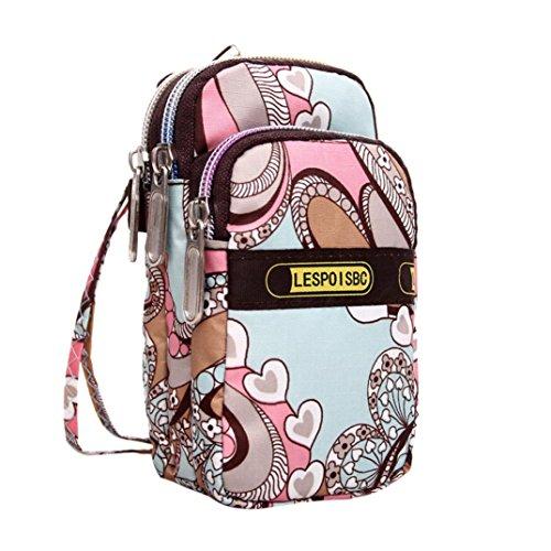 Shoulder Bag Bag Wrist Mini Bag Wrist Printing Zipper Sports Women's Outdoor C Luoluoluo gC6xw0Fqx