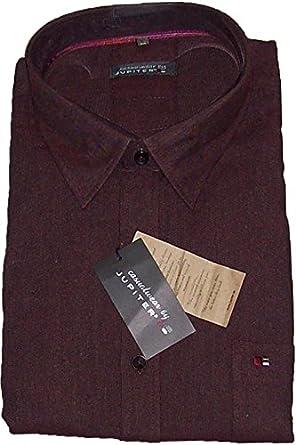 Jupiter Camisa Casual Oversize Burdeos, 45/46-55/56:51/52 ...