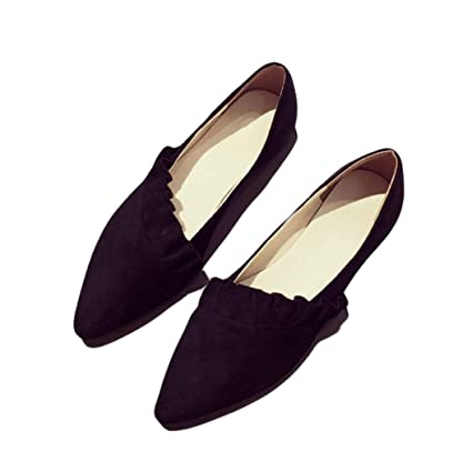 Women Casual Ballet Flats Shoes Comfort Slip On Boat Loafers Shoes Single Shoes