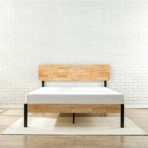 Zinus Olivia Metal And Wood Platform Bed With Wood Slat