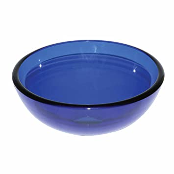 Nice Blue Glass Vessel Sink With Drain, Mounting Ring, Tempered Glass Mini Bowl  Sink |