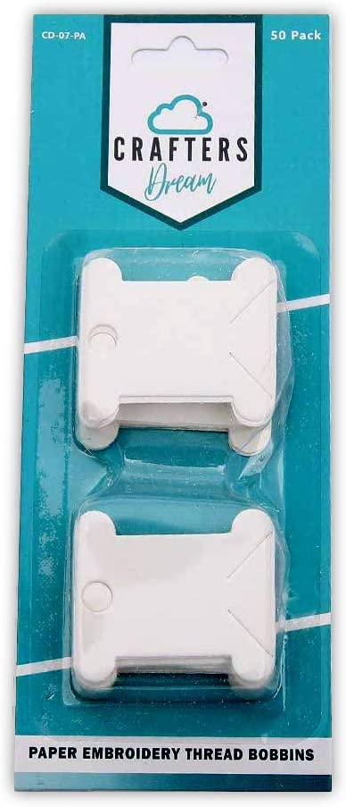 Crafters Dream Paper Bobbin Floss for Embroidery Threads 50 Pack