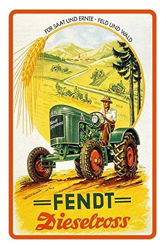 Schatzmix Fendt dieselross F15 Traktor reklame blecshchild