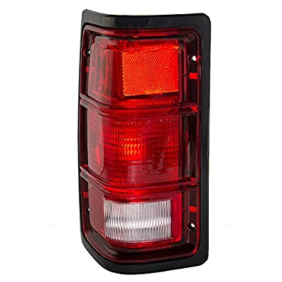 Drivers Taillight Tail Lamp Lens with Black Bezel Replacement for Dodge Pickup Truck 55076439