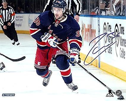 best sneakers a9334 92b62 New York Rangers Mats Zuccarello Autographed 8x10 Photograph ...