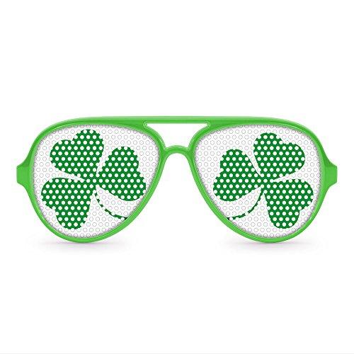 Shamrock Party Aviator Sunglasses (Green)