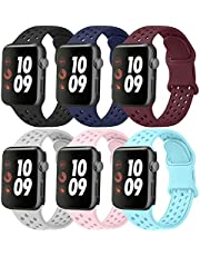 Funeng Sport Bands Compatible with for Apple Watch Band 38mm 42mm 40mm 44mm, Soft Silicone Replacement Straps Compatible with for iWatch SE Series 6, Series 5, Series 4, Series 3, Series 2, Series 1
