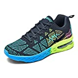 Cheap LSGEGO Women's Breathable Running Shoes Air Cushion Athletic Jogging Sneakers Lightweight Walking Shoes Women Fitness Sports Shoes (7-7.5 B(M) US, Green)
