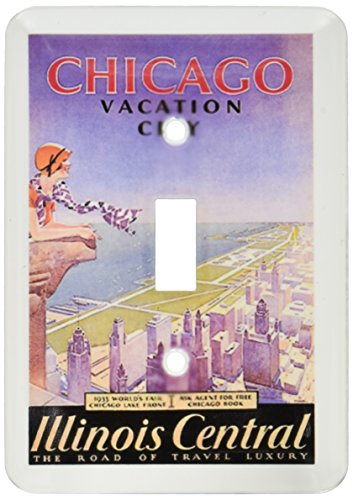 3dRose lsp_130400_1  Vintage Travel Poster For Chicago Worlds Fair.Jpg Single Toggle Switch by 3dRose