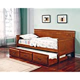 Coaster Home Furnishings 300036OAK Traditional Daybed, Oak