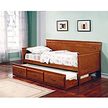 Coaster Home Furnishings 300036OAK Traditional Daybed - Oak