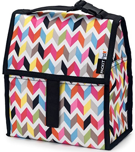 PackIt Freezable Lunch Bag with Zip Closure, - Lunch Velcro Bag Lid