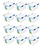 Ziploc 44 Qt. Small Deep WeatherShield Storage Box Clear Pack of 12