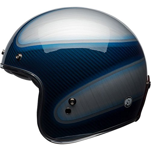Bell Custom 500 Carbon RSD Jagger Open-Face Motorcycle Helmet (Candy Blue, Small) by Bell