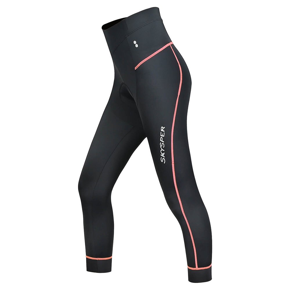 Skysper Women Biking Shorts, 3D Padded Breathable Compression 3/4 Cycling Tights