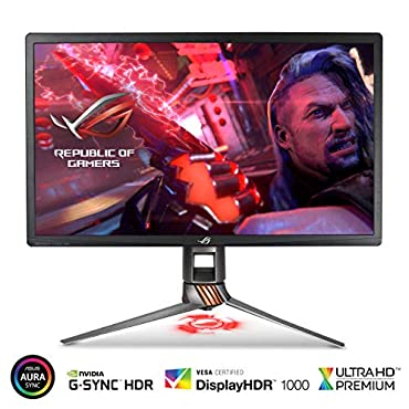ASUS ROG Swift PG27UQ 27 4K UHD 144Hz DP HDMI G-SYNC HDR Aura Sync Gaming Monitor with Eye Care