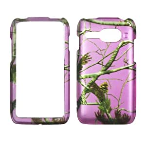 2D Pink Camo Pine Kyocera Event C5133 Virgin Mobile Case Cover Hard Case Snap-on Cases Rubberized Touch Protector Faceplates