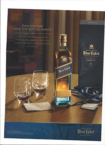(MAGAZINE PAPER AD For Johnnie Walker Blue Label Scotch 2014 Give The Gift)