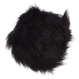 Pom Pom Hair Tie - Black OSFM