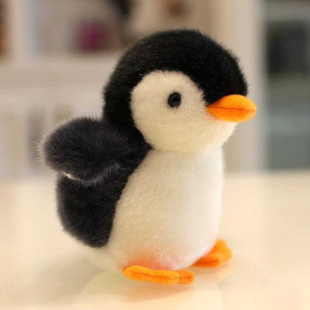 Naiyn Regalo de cumpleaños Mini Puede Pingüino Decoración de Escritorio Mochila Colgante pequeña muñeca de Trapo decoración casera del bebé Acentos Ollec