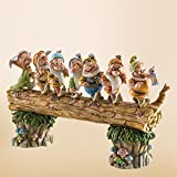 """Disney Traditions by Jim Shore Snow White and the Seven Dwarfs Heigh-ho Stone Resin Figurine, 8.25"""""""