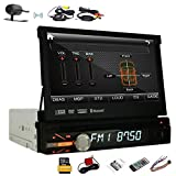 HD Wireless Camera 8GB Card GPS Navigation Single Din 7inch HD Detachable Panel Touch Screen Car Radio Stereo Auto DVD Player 1 Din Bluetooth Radio Receiver Ipod CD USB SD Aux Subwoofer entertainment system