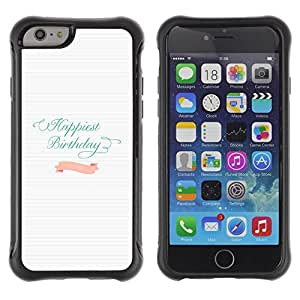 "Pulsar iFace Series Tpu silicona Carcasa Funda Case para Apple (4.7 inches!!!) iPhone 6 , Cumpleaños del trullo Líneas rosadas de papel blanco"""