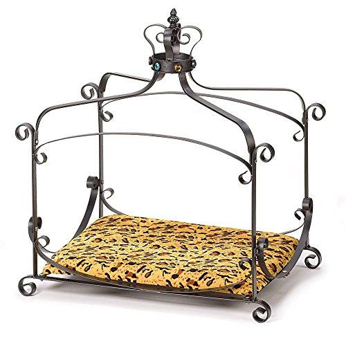 BESTChoiceForYou Royal Splendor Pet Bed, Royal Splendor Pet Metal Canopy Bed Small Dog Cat Puppy, Royal Pet Splendor Bed Dog Cat New Animal-Print Velvet, Fabulous Royal Splendor Pet Bed